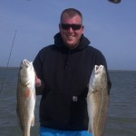 Another happy fisherman with his Port Aransas catch!