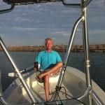 Dean ready for his fishing trip in Port Aransas Bay